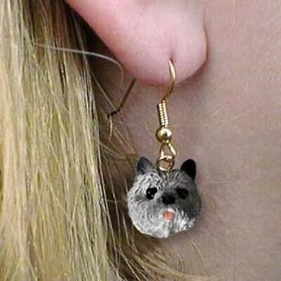 Dangle French Wire CAIRN TERRIER GRAY Dangle Head Earrings CLEARANCE SALE