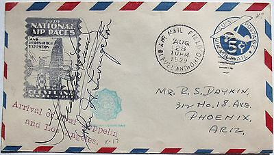 Freddie Lund & John Livingston Noted Pilots Autographs Signed Air Races Cover