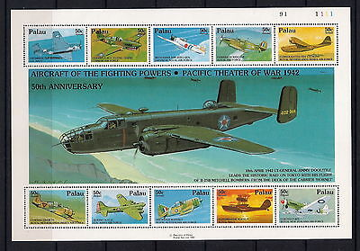 Guyana - 1992 50th Anniversary of War in the Pacific Aircraft sheet, MNH