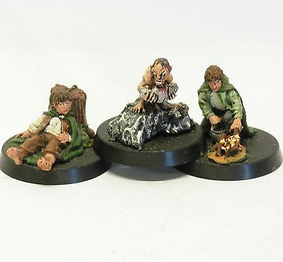 Frodo + Sam + Gollum GONDOR Herr d. Ringe Games Workshop METALL Hobbit