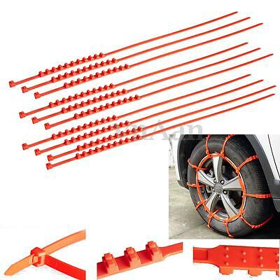 10PCS Car Truck Snow Ice Mud Chains Wheel Tyre Tire Anti-skid Thickened Tendon