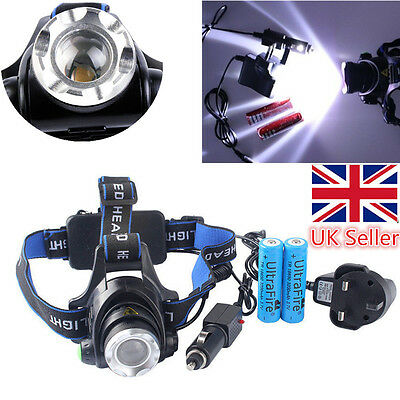 Zoomable Headlamp 6000LM CREE XML T6 LED Rechargeable Head Torch Bike Headlight