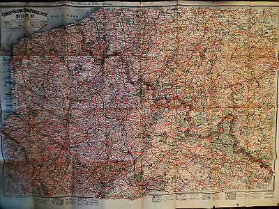 Vintage Carte Guide Campbell No.2 Nord - 1917-18 Large Map of Northern France