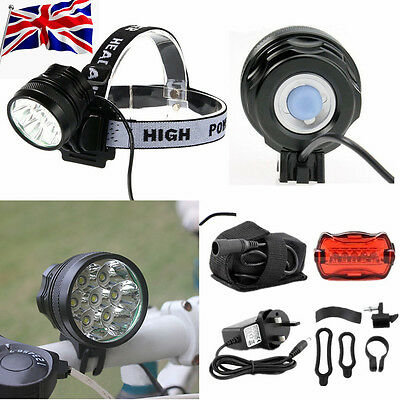 Super Bright 20000LM CREE T6 7 LED Mountain Bike Cycling Bicycle Head Light Lamp