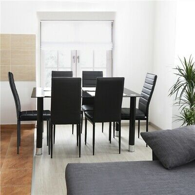 Excellent 2 Modern Dining Room Chairs Leather Padded Seat Home Evergreenethics Interior Chair Design Evergreenethicsorg
