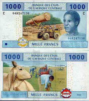 Central Africa States - Chad - Tchad 1000 Fr (2002) Pick 607C UNC