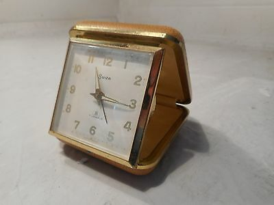 Quality 8 Day Swiza Travelling Alarm Clock    ,    ref 2238