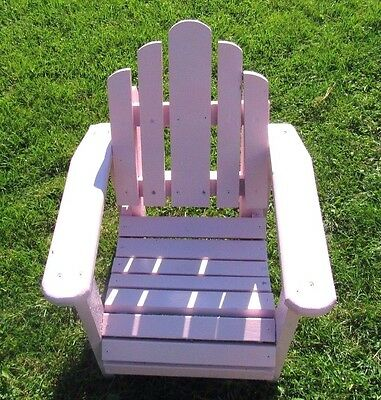 PINK Child Outdoor Adirondack Chair  Patio Furniture Wood  PINK