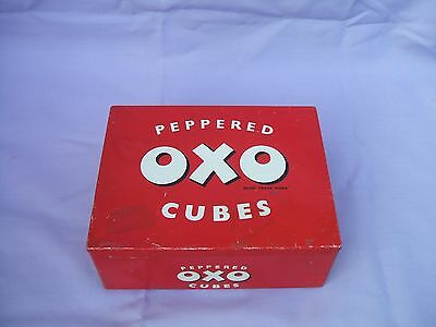 Scarce Old Peppered OXO 144 Cubes Empty Tin circa 1950s