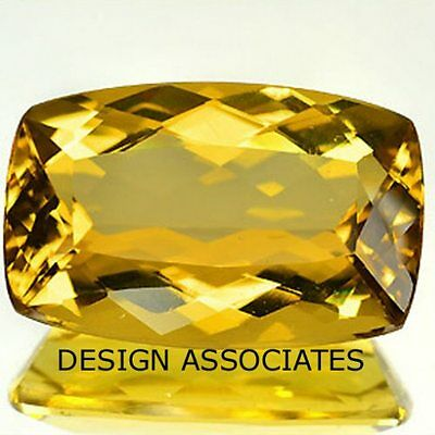 Golden Beryl Outstanding Cushion Cut 1.88 Carats 12x6 MM All Natural AAA
