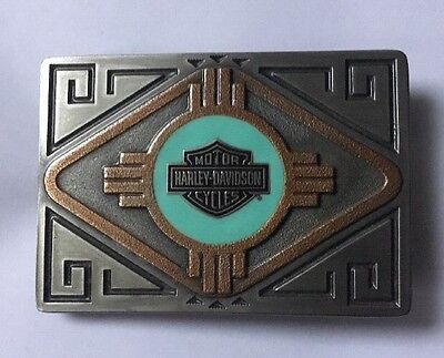 Harley Davidson 1996 Southwest Bar And Shield Belt Buckle New In Box