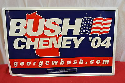 George Bush Dick Cheney Yard Sign 2004 Poster Presidential Election Campaign1344