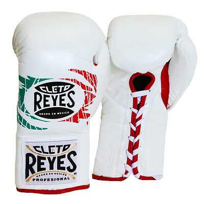 Cleto Reyes Official Lace Up Competition Boxing Gloves - 10 oz. - Mexican Flag