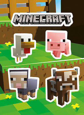Vinyl Sticker / Aufkleber Set - MINECRAFT - Animals (Game) - ca13 x 18cm SKP83