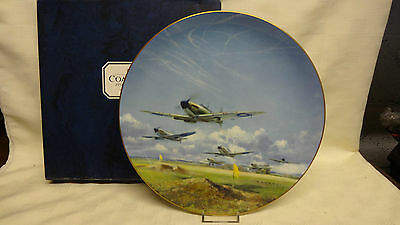 Boxed & COA Limited Edition Coalport Battle Of Britain Plate -With Signatures