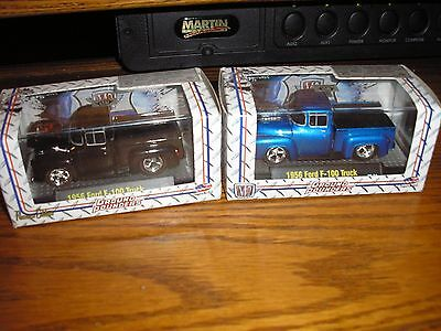 RARE Vintage Lot OF 2 Different M2Machines Hot Rod 1956 Ford F-100 FREE S/H