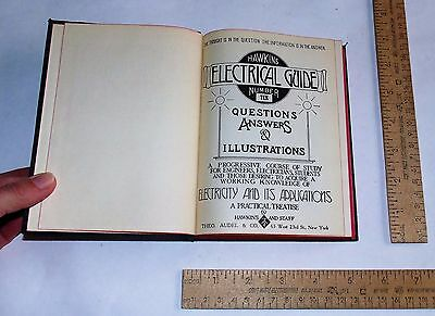 HAWKINS ELECTRICAL GUIDE No 10 - 1929 - illustrated Book - steam punk
