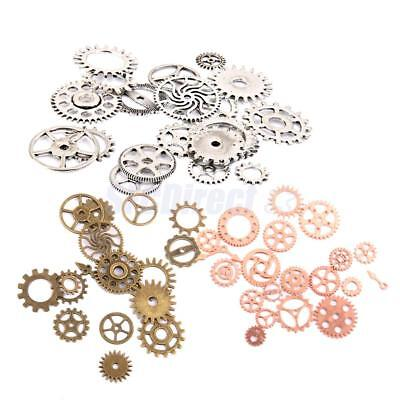 57x Gear Cog Wheel Watch Part Charms Pendant Embellishment Steampunk Charms