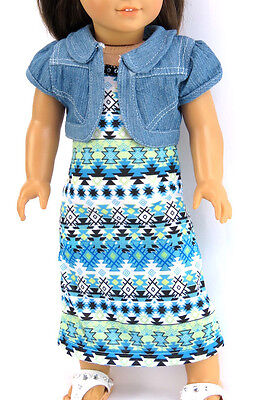 "2 Piece Tribal Dress Outfit for 18"" American Girl Doll Clothes"