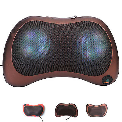 New Electric Massage Pillow Car Home Dual-use Neck Waist Massager Christmas Gift