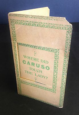 Enrico CARUSO (Opera): Rare Card from the Monkey House Scandal