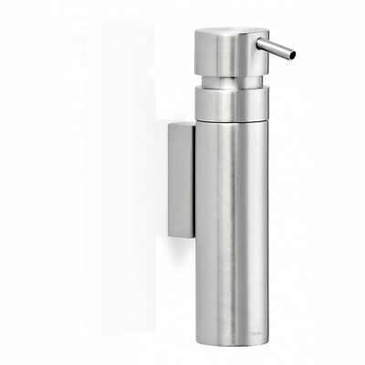 Blomus Nexio Soap Dispenser Wall Mounted Brushed Stainless Steel Designer New