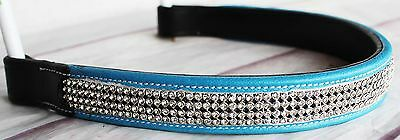 BROWBAND Bling Crystal Horse English Bridle USA Leather Polo Crystal 809S08
