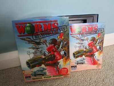 Worms Reinforcements - PC CD ROM - Box & Manual Only - Excellent Condition