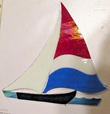Pre Cut Stained Glass Sailboat Kit