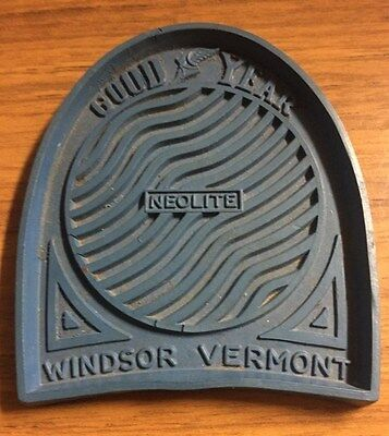 Vintage Goodyear Tire Company Neolite Blue Heel Coaster Windsor, Vermont Plant