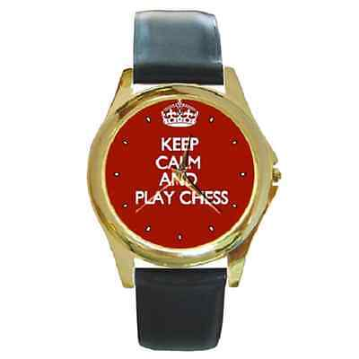 Keep Calm And Play Chess Wristwatch **brilliant Gift Item***