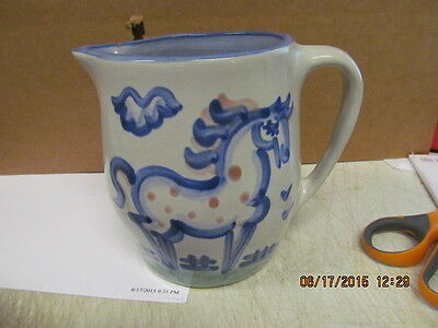 """M A Hadley Horse Small Pitcher    """"The End""""  Great Piece of Hadley"""