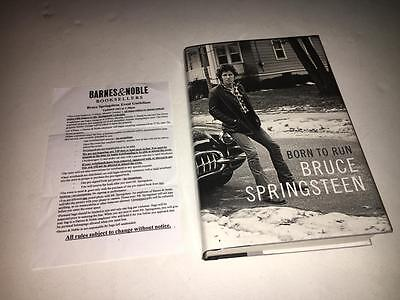 Born to Run 1st Edition Hardcover SIGNED by Bruce Springsteen w/flyer, photo COA