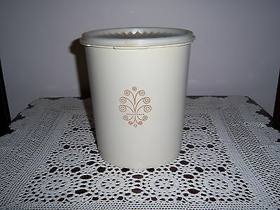 Retro Vintage Tupperware Canister Container Press Seal Ivory / Beige