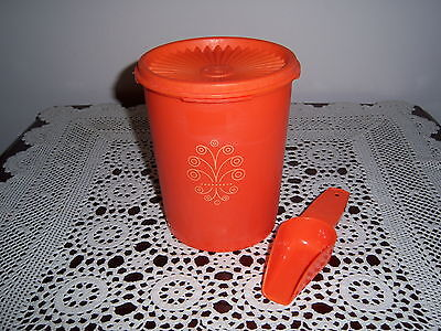 Retro Vintage Tupperware Canister Container Press Seal Orange