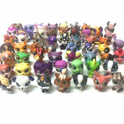 Original LPS Littlest Pet Shop Hasbro Figure Girl Mini Toy Gift - Random 5pcs