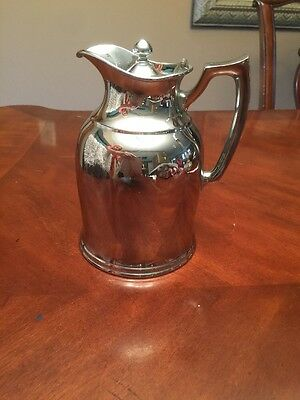 """Stanley Landers Frary Clark 7"""" Tall Hot Cold Insulated Chrome Pitcher Jug !!"""