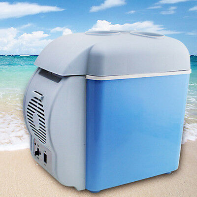 Portable 7.5L Mini Car Refrigerator Camp Freezer Warmer Double Use Travel Fridge