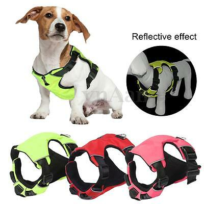 S/M/L Pet Dog Puppy Reflective Harness Chest Vest Soft Mesh Padded Collar Strap