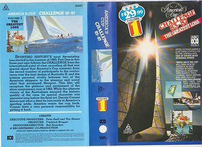 Americas Cup83-87  Volume One The Greatest Loss   Of Vhs Video Pal~ A Rare Find~