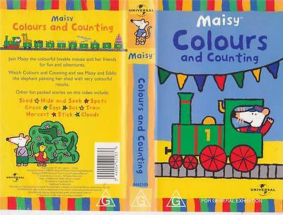 Maisy Colours And Counting  Vhs Video Pal~ A Rare Find In Excellent Condition