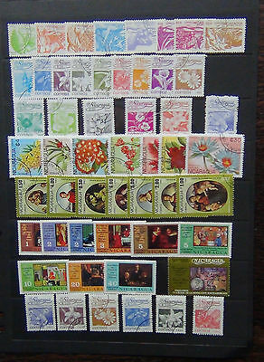 Nicaragua 1983 Agrarian FLowers 1983 Rapheal + others FU or MNH