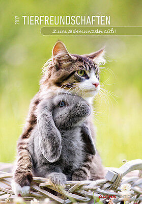 Tierfreundschaften 2017 - Animal Friends - Bildkalender (24 x 34) - Tierkal ...