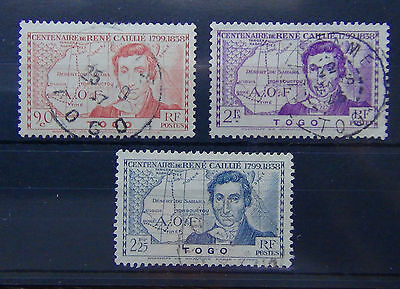 Togo 1939 Centenary of Death of R Callie set Fine Used