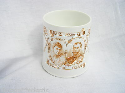1893 Marriage Cup Mug Princess May Teck & Duke York ~ King George V & Queen Mary