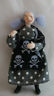 Dolls House Miniature Cheeky Winking Witch 1-12TH Scale