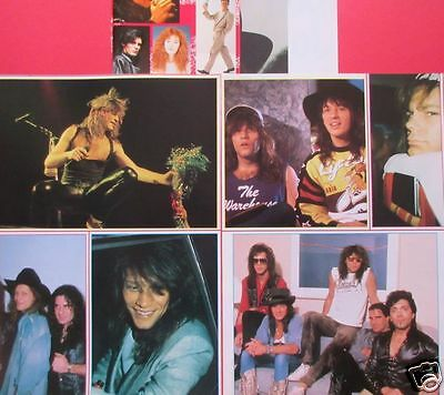 Bon Jovi 1989 Sticker & 6Page Clippings Japan Magazine Ir 8A