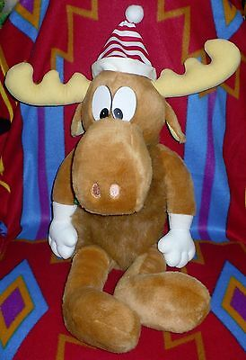 "Vintage 90s Bullwinkle Moose Plush Stuffed Animal Macys Large 25"" Xmas Doll 1996"