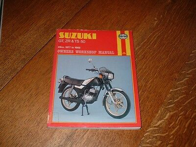 Haynes Manual For Suzuki Gt50 Zr50 Ts50. 1977 To 1985. Ex-Library Book.