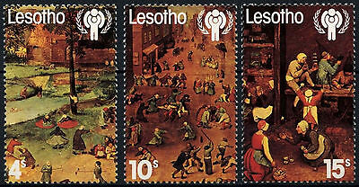 Lesotho 1979 SG#379-381 Year Of The Child MNH Set #D40083